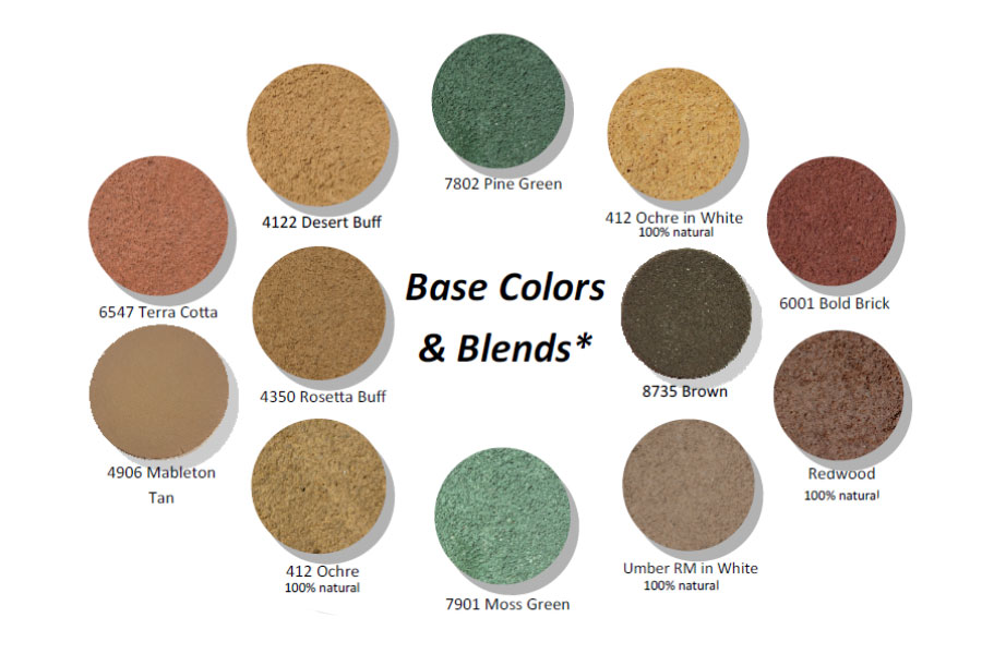 New Riverside Ochre Base Colors Amp Blends